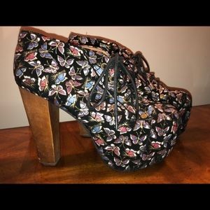 JEFFREY CAMPBELL BUTTERFLY PLATFORM BOOTIES